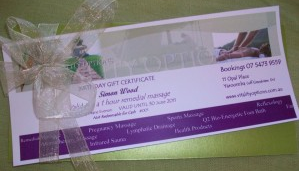 Vitality Options Massage Coolum Beach - Gift Vouchers
